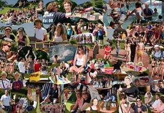 Impressionen von der Beach-Party am vorletzten Schultag von Pit Gutschank