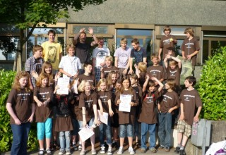 Gymnasium Borghorst wieder sehr erfolgreich bei freestyle-physics 2009